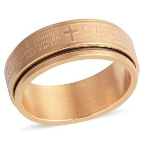 Men's Spanish Lord's Prayer Spinner Ring